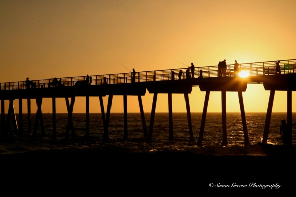 Hermosa Beach pier sunset