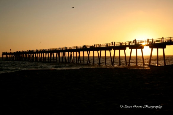 Hermoa Beach pier sunset