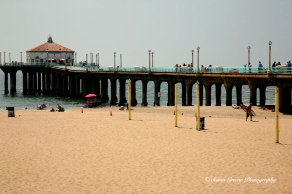 summer day Manhattan Beach pier