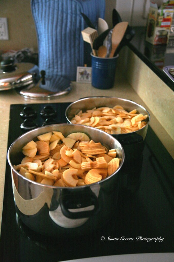 apples cooking on stove