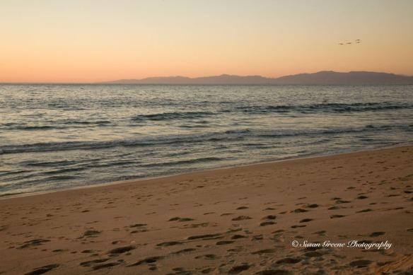 sunset landscape at beach