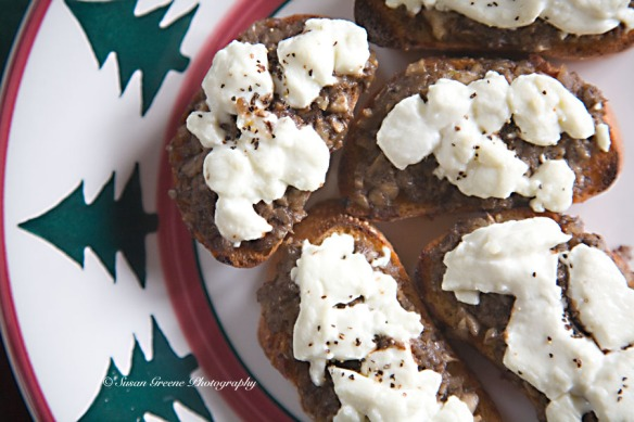 mushroom goat cheese appetizer