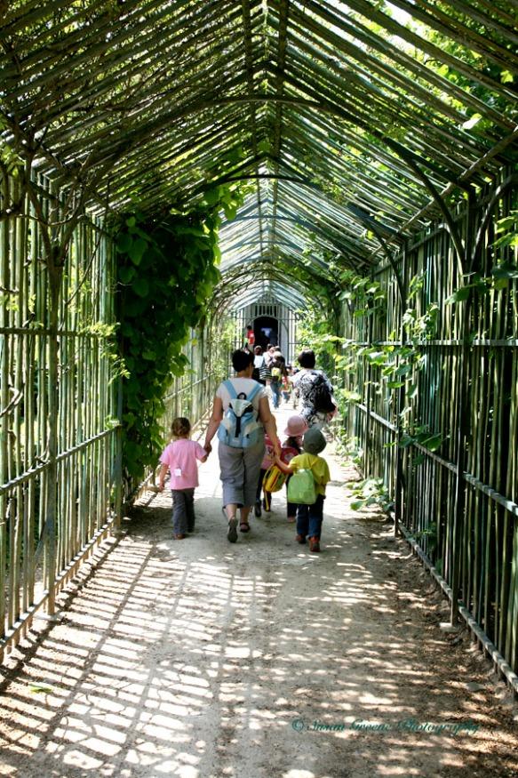 leading lines children walking