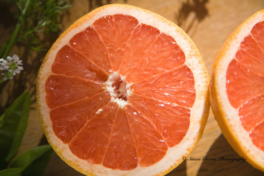 how to cut grapefruit for garnish