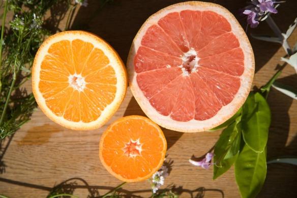 three citrus cut