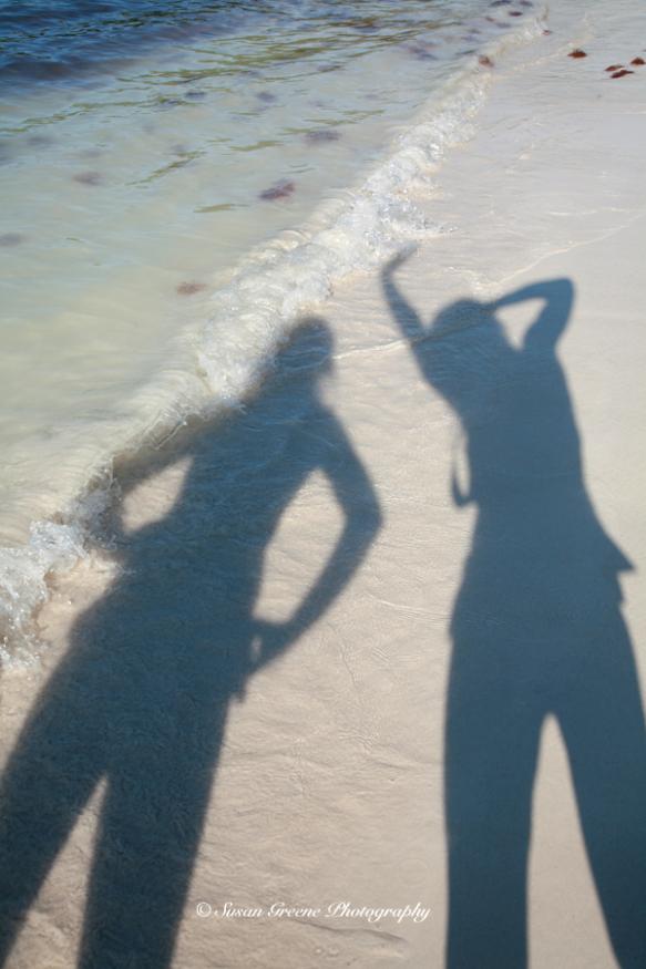 shadows on beach