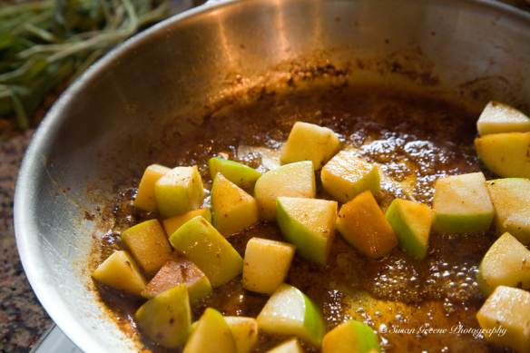 sauteeing apples
