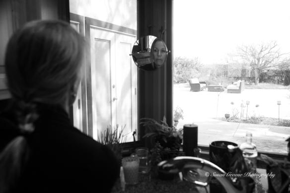self portrait in window